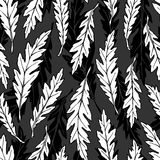 Monochrome foliage pattern Stock Photography