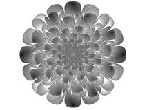 Monochrome fractal background. Digital collage. Monochrome abstract background with fractal flower can be used as an alpha channel for video and design projects Royalty Free Stock Photo