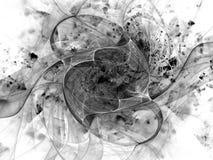 Monochrome fractal background. Digital collage. Stock Image