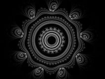 Monochrome fractal background. Digital collage. Royalty Free Stock Photos