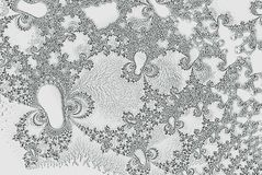 Monochrome fractal image for print or coloring book. Fractal image for print or coloring book vector illustration