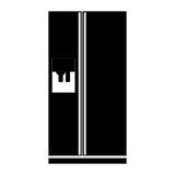 monochrome fridge wiht water dispenser Stock Photos