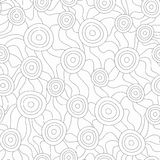 Monochrome fungus seamless pattern Royalty Free Stock Image