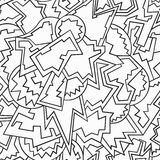 Monochrome funny geometric seamless pattern Royalty Free Stock Images