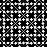 Monochrome geometric art seamless pattern, vector Royalty Free Stock Photo