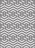 Monochrome geometric art seamless pattern, vector mosaic black a Royalty Free Stock Photo