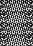 Monochrome geometric art seamless pattern, vector mosaic black a Royalty Free Stock Photography