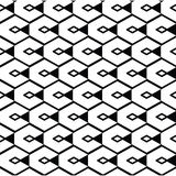 Monochrome geometric art seamless pattern, vector mosaic black a Stock Photos