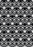 Monochrome geometric art seamless pattern, vector mosaic black Royalty Free Stock Photography