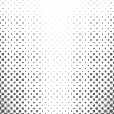 Monochrome geometric flower pattern - abstract floral vector background Royalty Free Stock Photo