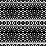 Monochrome geometric ornament. Vector seamless pattern. Stock Photo