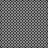 Monochrome geometric ornament. Vector seamless pattern. Royalty Free Stock Images