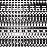 Monochrome Geometric Pattern Royalty Free Stock Image