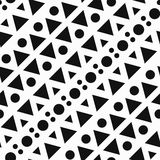 Monochrome geometric. Seamless pattern. Royalty Free Stock Photography