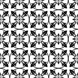Monochrome geometric seamless pattern Royalty Free Stock Photo