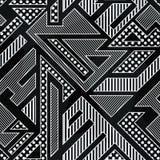 Monochrome geometric seamless pattern. Vector eps 10 Royalty Free Illustration