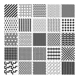 Monochrome geometric seamless patterns Royalty Free Stock Image