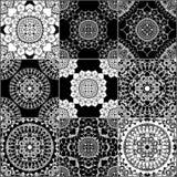 Monochrome geometric seamless patterns Stock Image