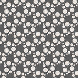 Monochrome geometric seamless vector pattern with circles Royalty Free Stock Image