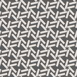 Monochrome geometric seamless vector pattern with lines Stock Photos