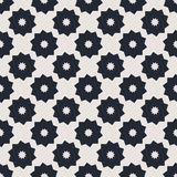 Monochrome geometric seamless vector pattern Stock Images