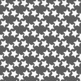 Monochrome geometric seamless vector pattern with stars Stock Images