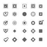 Monochrome geometric symbols of item marking illustrations set Stock Photo