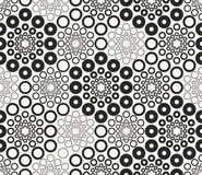 Monochrome geometric vector seamless pattern Royalty Free Stock Photos