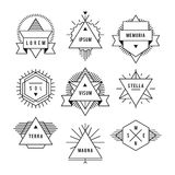 Monochrome geometric vintage label. On a white background set of characters Royalty Free Stock Photos