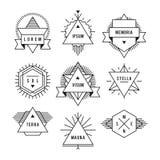 Monochrome geometric vintage label Royalty Free Stock Photos