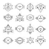 Monochrome geometric vintage label Stock Photo
