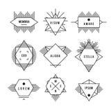 Monochrome geometric vintage label Royalty Free Stock Images