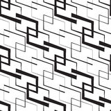 Monochrome Geometric Wallpaper Royalty Free Stock Photography