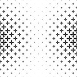 Monochrome geometrical pattern - abstract vector background graphic design Stock Photography