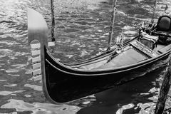 Monochrome gondola Royalty Free Stock Photography
