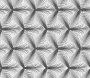 Monochrome gradually striped black three ray stars Royalty Free Stock Photo