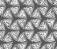 Monochrome gradually striped three pedal flowers Royalty Free Stock Photography