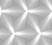 Monochrome gradually striped three ray stars Stock Photo