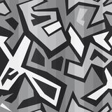 Monochrome graffiti seamless Royalty Free Stock Image