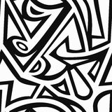 Monochrome graffiti seamless pattern Royalty Free Stock Photo