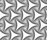 Monochrome gray triangles with hatched offset Stock Photography