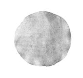 Monochrome grey circle watercolor isolated Royalty Free Stock Images