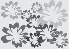 Monochrome grey floral abstract  frame background Stock Photos