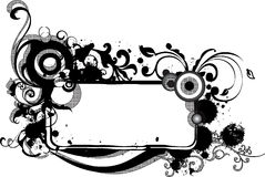 monochrome grunge рамки арабеск Стоковая Фотография RF