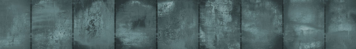 Monochrome Grungy Panoramic Metal Background (Letterbox Format) Royalty Free Stock Photography