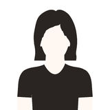 Monochrome half body woman with short hair without face Royalty Free Stock Photos