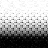 Monochrome halftone abstract background. Of circular elements and in the direction from bottom to top Stock Images