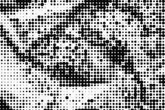 Monochrome halftone background Abstract  grunge texture Stock Photography