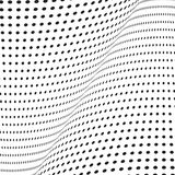 Monochrome halftone background with illusion of Stock Photo