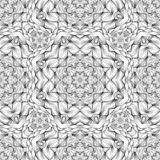 Black and White oodles Kaleidoscope Vector Seamless Pattern vector illustration